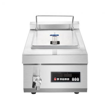 Commercial Free Standing Gas Range Fryer Made of High Quality Stainless Steel